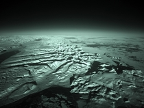 Greenland from Above Infrared Photograph
