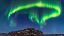 Greenland northern lights not exactly space but cool I guess