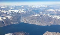 Greenland via Polar Route from Abu Dhabi to New York