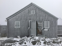 Greenleaf Hut Mt Lafayette New Hampshire yesterday
