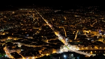 Grenoble France at night