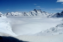 Grindelwald-Fiescher Glacier from Eismeer Station Jungfraubahn Switzerland  x-post from rTravel_HD