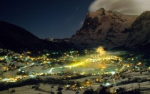 Grindelwald Switzerland at night