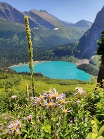 Grinnell Lake from Grinnell Galcier Trail