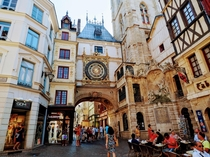 Gros Horloge Rouen France The clock dates from the th century