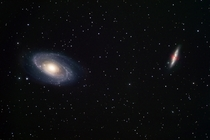 Ground-based view of two galaxy neighbours M and M