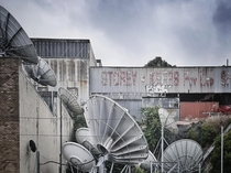 Ground Control to Major Tom - abandoned warehouse and sattelite antennae White Bay Sydney