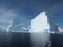 Grounded icebergs larger than cathedrals Antarctica
