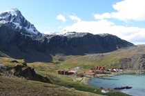 Grytviken an abandoned whaling base on South Georgia Island