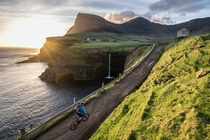 Gsadalur on the western side of the island of Vagar Faroe Islands  OS