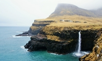 Gsadalur settlement Faroe Islands Denmark