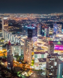 Guadalajara Mexico skyline at night