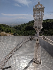 Guarded by a sole septuagenarian Armenias Herouni Radio Observatory Telescope was once part of the USSRs effort to seek extraterrestrial intelligence It has been inactive since  and slowly decaying since  OC