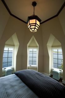 Guest Bedroom in Tudor Turret on Point of Tonka Bay MN