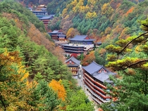 Guinsa Temple deep in the Sobaek Mountains Danyang County North Chungcheong Province South Korea
