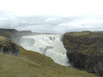 Gulfoss Waterfalls Iceland  taken on ipad