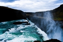 Gullfoss Iceland the power of the water is insane