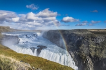 Gullfoss waterfall Iceland  by Antonio Aliaga