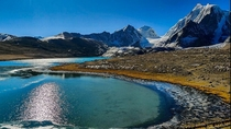 Gurudongmar Lake situated in the mighty Himalayas at a height of k ft