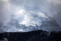 Gusting day over Stones Peak in Rocky Mountain National Park Colorado