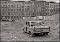 Gutted Moskvich  in Berlin Sept  by M Joedicke