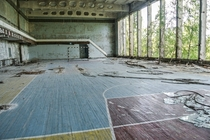 Gym in the Chernobyl Exclusion Zone Ukraine