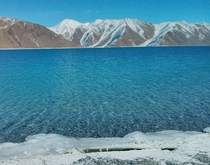 h drive from the nearest city Leh through barren subzero Himalayas ti the bluest thing youll ever see Pangong Tso Ladakh circa