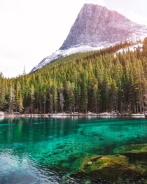 Ha-Ling Peak as seen from Grassi Lakes in Alberta most beautiful afternoon Ive had