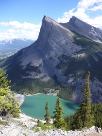 Ha Ling Peak -view from East End of Mt Rundle Kananaskis Country Alberta