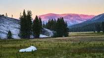 Had a six week road trip last summer Here is one of my favourite sunsets Tuolumne Meadows
