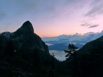 Had an entrancing sunset all to myself on Howe Sound Crest Trail BC