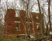 Had to take an unbelievably muddy hike to get to this old farm ruin in west central Illinois x