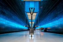 HafenCity Universitt metro station in Hamburg Germany