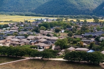 Hahoe one of the most traditional villages in South Korea and a World Heritage Site