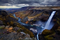 Haifoss waterfall Iceland  by Trevor Anderson