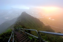 Haiku Stairs - Oahu Hawaii Illegal to climb