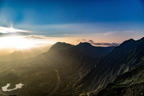 Haiku Stairs Summit Sunrise Oahu Hawaii
