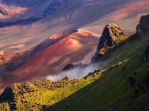 Haleakal - a massive dormant shield volcano on the Hawaiian island Maui photo by RJ Bridges