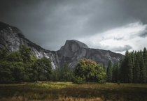 Half Dome as a storm rolls in