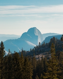 Half Dome as viewed from the northeast end of Yosemite Valley