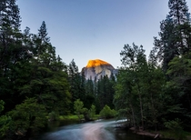 Half Dome at Sunset Yosemite Valley