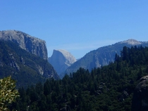 Half Dome framed in the distance