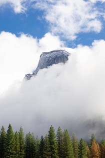 Half Dome in clearing storm