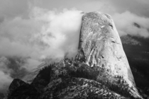 Half Dome in the clouds OC