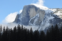 Half Dome in Winter Yosemite National Park