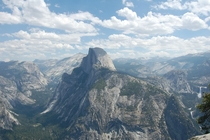 Half Dome in Yosemite National Park on an August afternoon