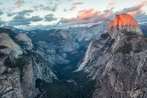 Half Dome loves that alpenglow spotlight Yosemite CA