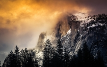 Half Dome Winter Sunset Yosemite National Park California