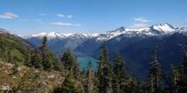 Half Note Trail in Whistler has opened for the summer and has a stunning backdrop