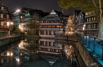 Half-timbered houses in Strasbourg Bas-Rhin France